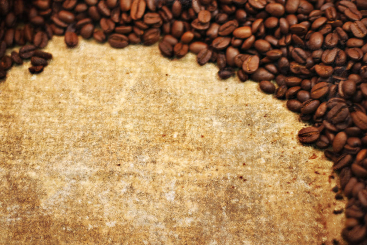coffee, coffee beans и leaf old paper, download photo, background, coffee, texture