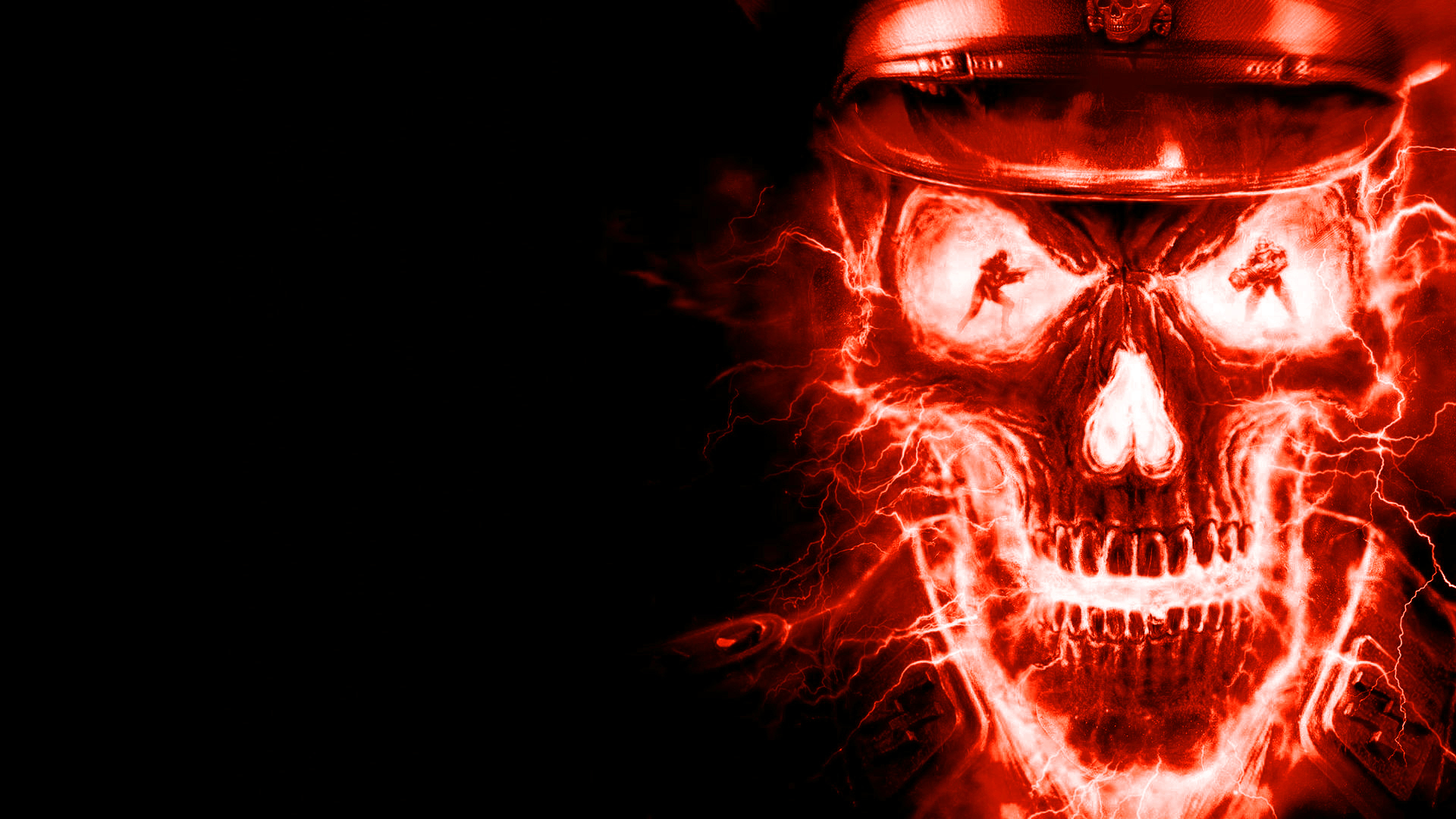 Skull, Background, Texture, Photo, Fire Skull Texture