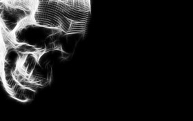 череп на черном фоне, фон, текстура, фото, skull on black texture background