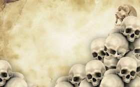 skull на backgroundе бумаге, background, texture, photo, skulls on paper texture background