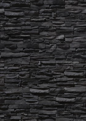 black stone wall, stone blocks, bricks from stone, background, texture, download