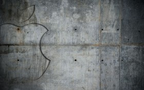 stone wall, download photo, wood wallpaper, apple logo, background,  stone
