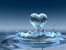 heart drop water background, texture, water, water, texture