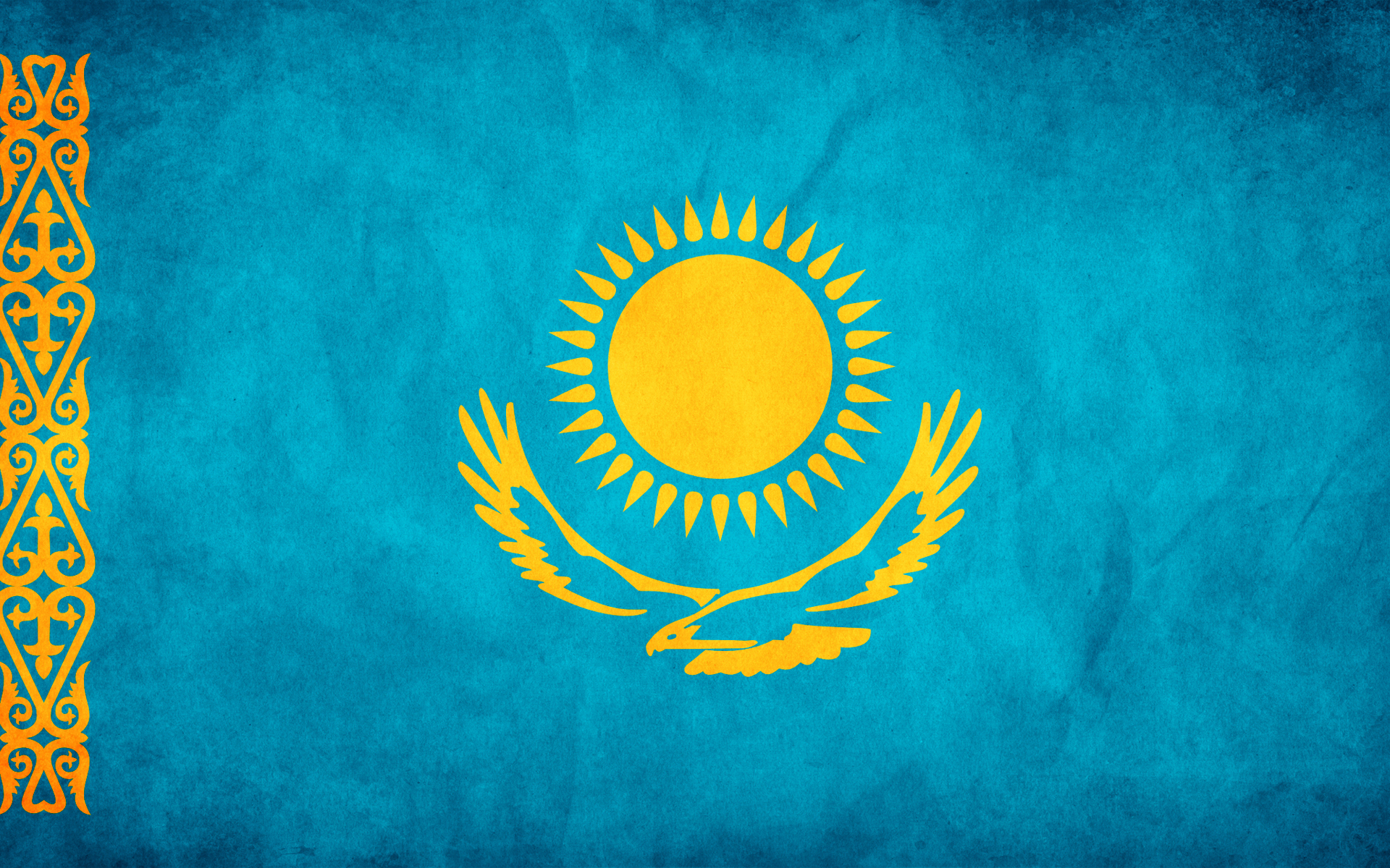 flag, texture flag, background, flag background, Kazakstan