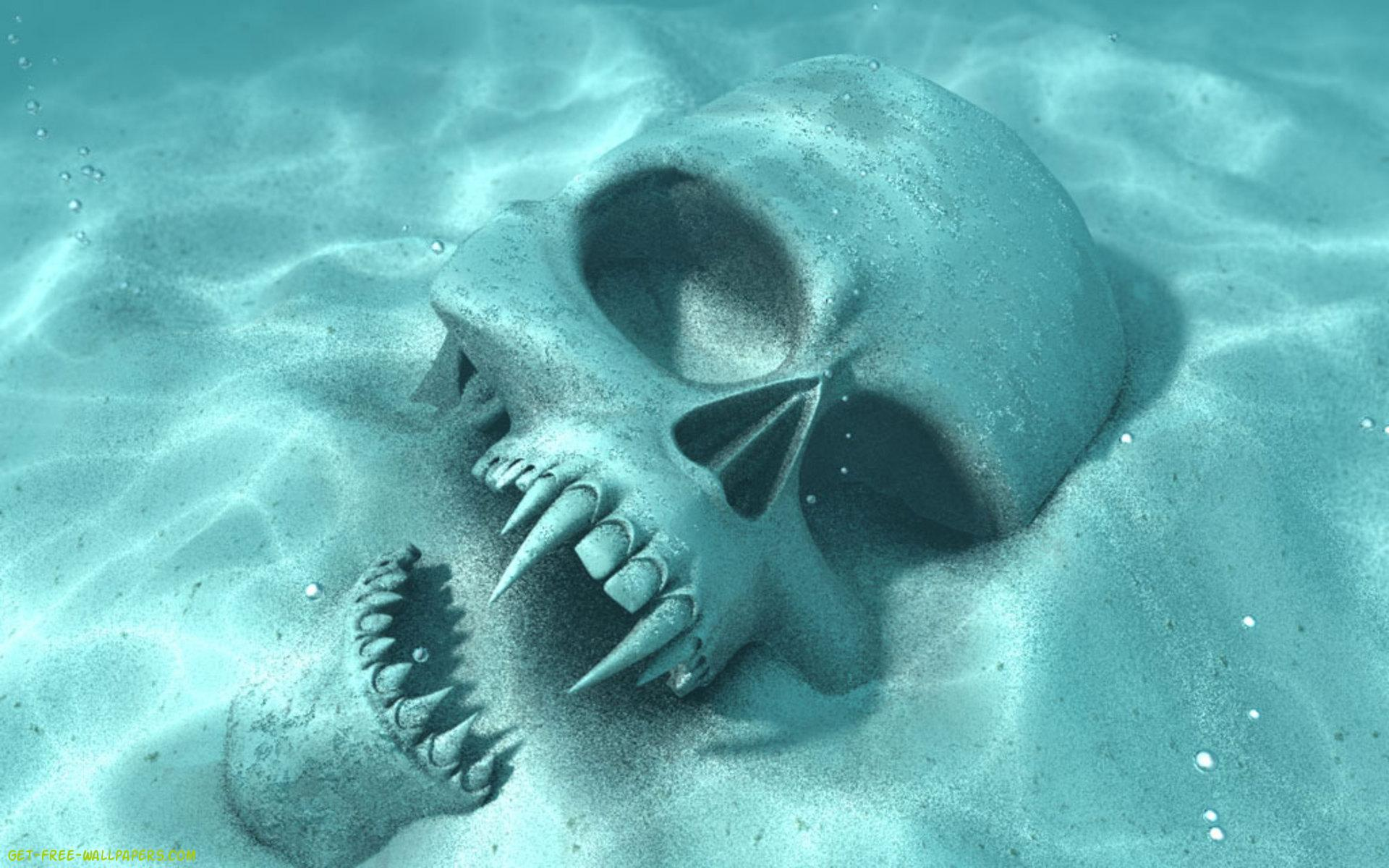 skull , background, texture, photo, skull in water texture background