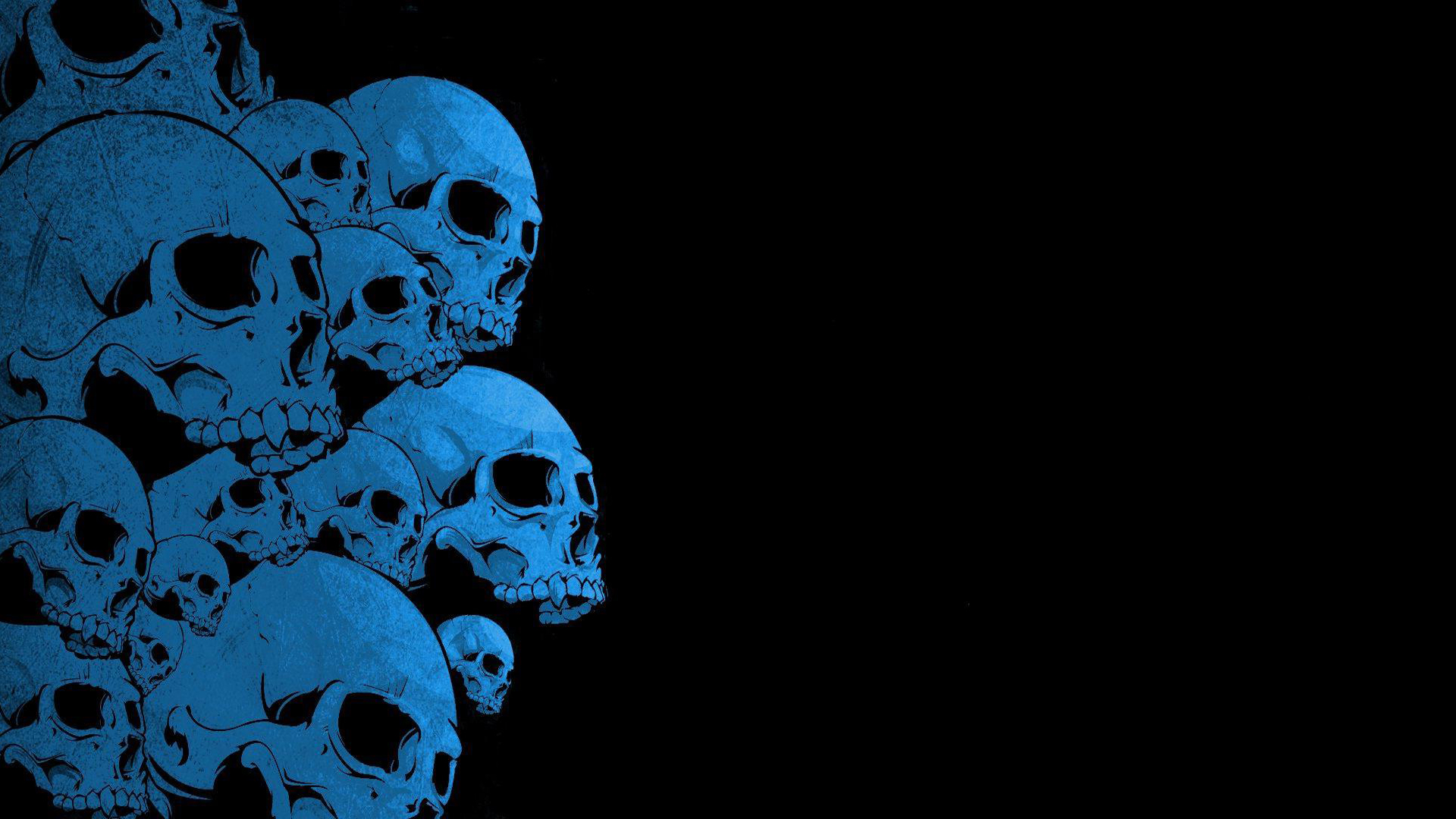 skull, background, texture, photo, blue skulls texture background