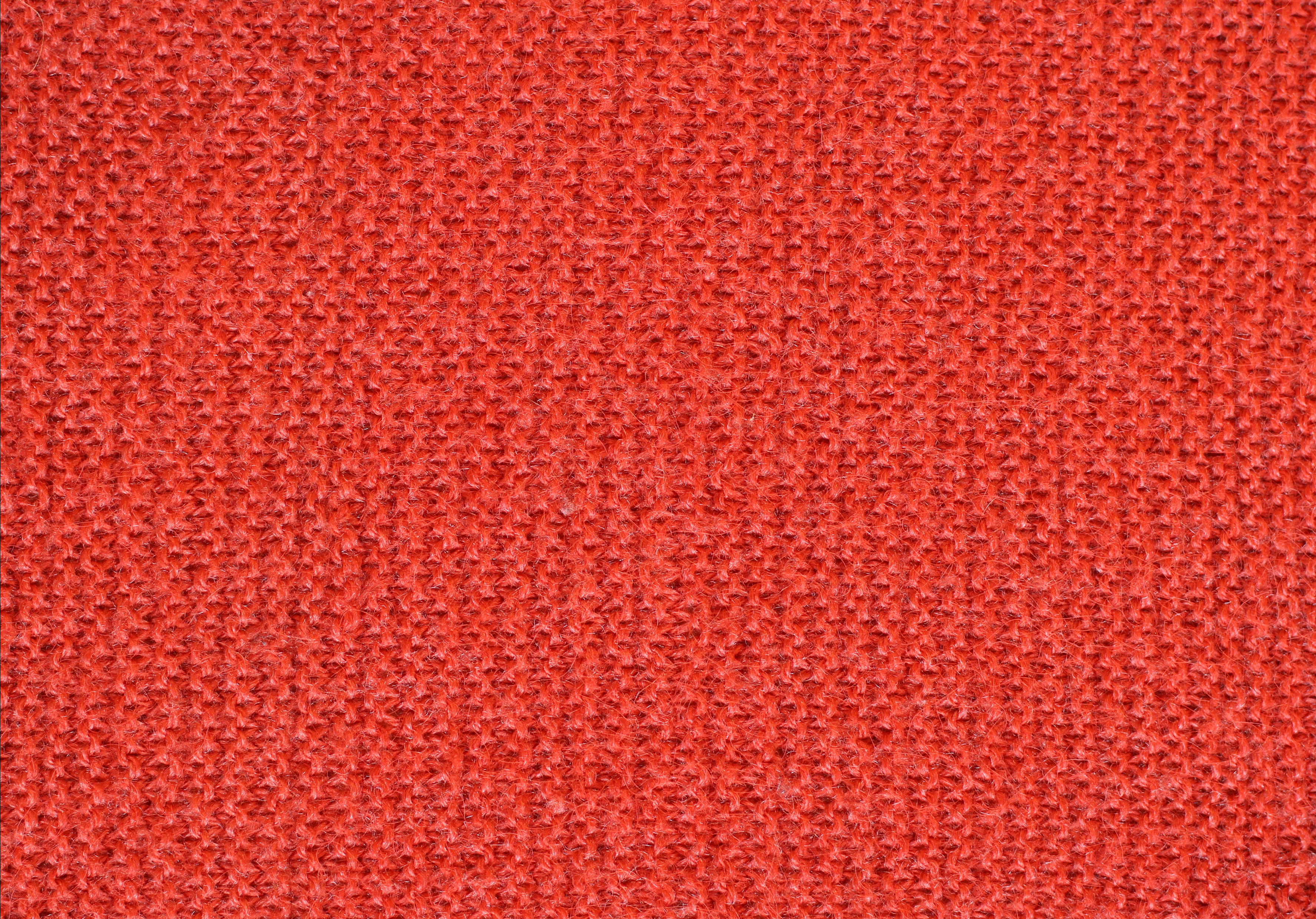 Red knitted wool texture background image