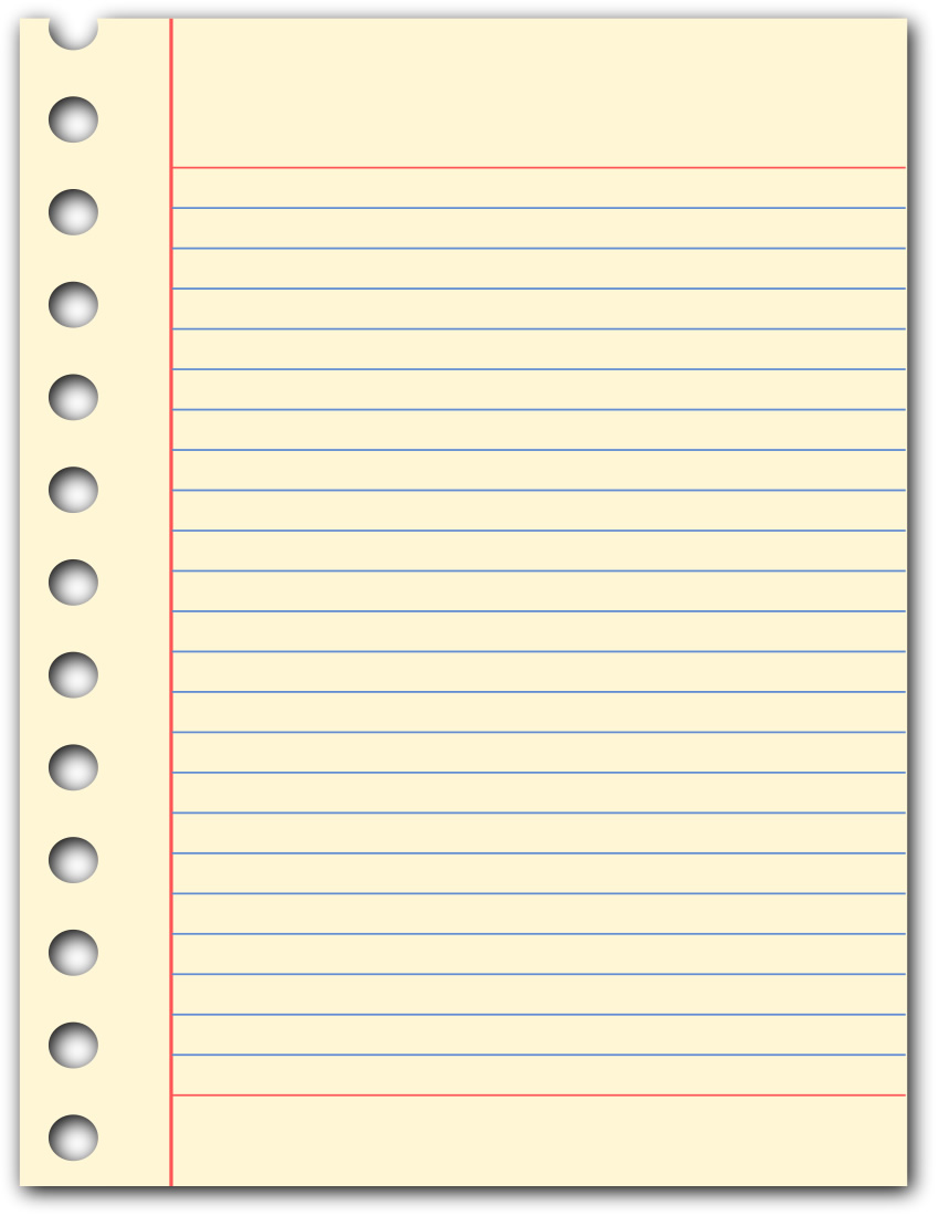 Paper lined notebook